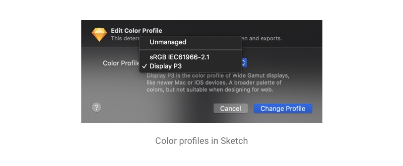Color profiles in Sketch
