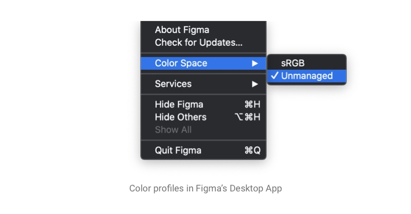 Color profile management in Figma